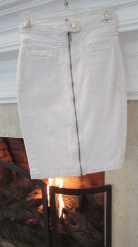 7 189 Retail All 24 Zip Skirt Front For Sz Pencil White Mankind r4xqrg