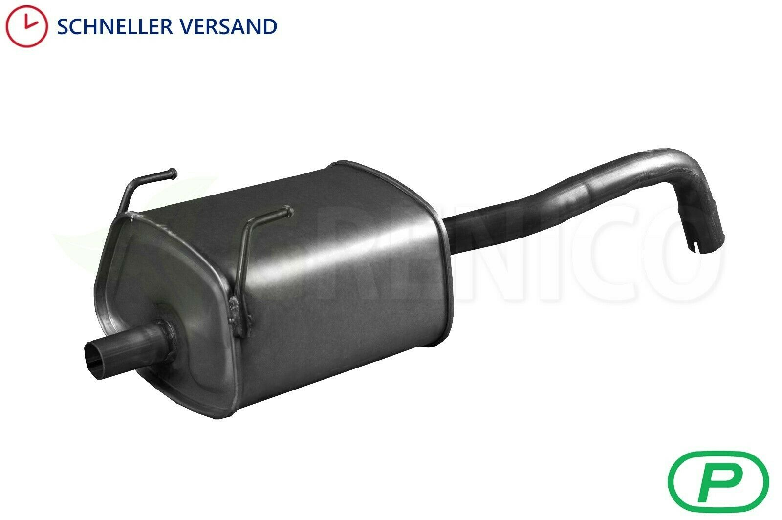 169 Fiat Panda II 1.1 1.2 Endschalldämpfer Auspuff Endtopf Schelle
