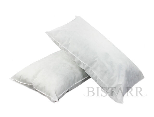 "SUPER KING SIZE BED PILLOWS, POLYCOTTON HOLLOWFIBRE FILLED 20"" x 36"" / 50 x 90cm"