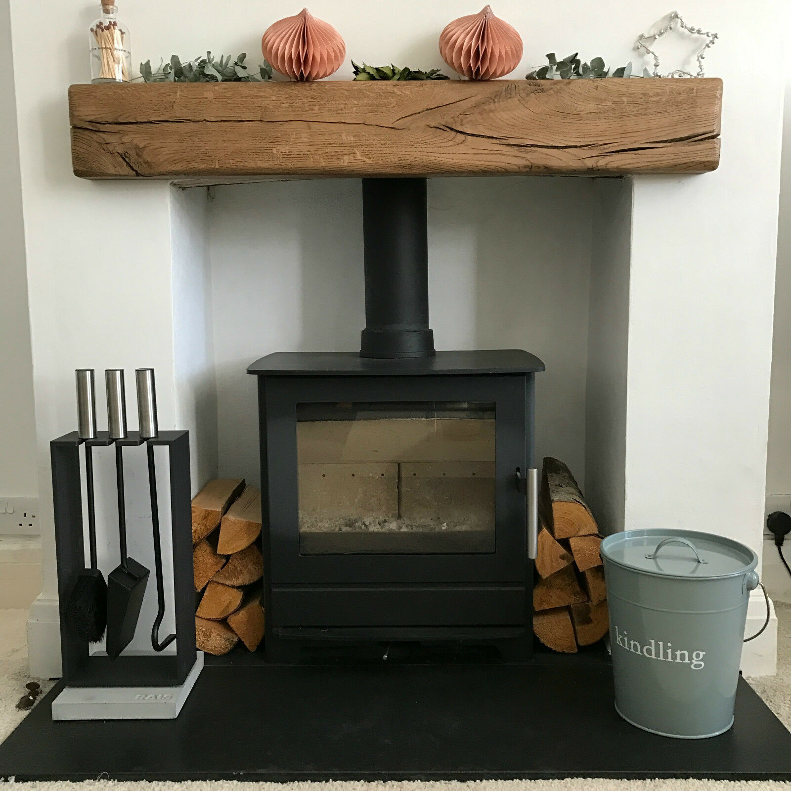 oak fireplace mantel ebay