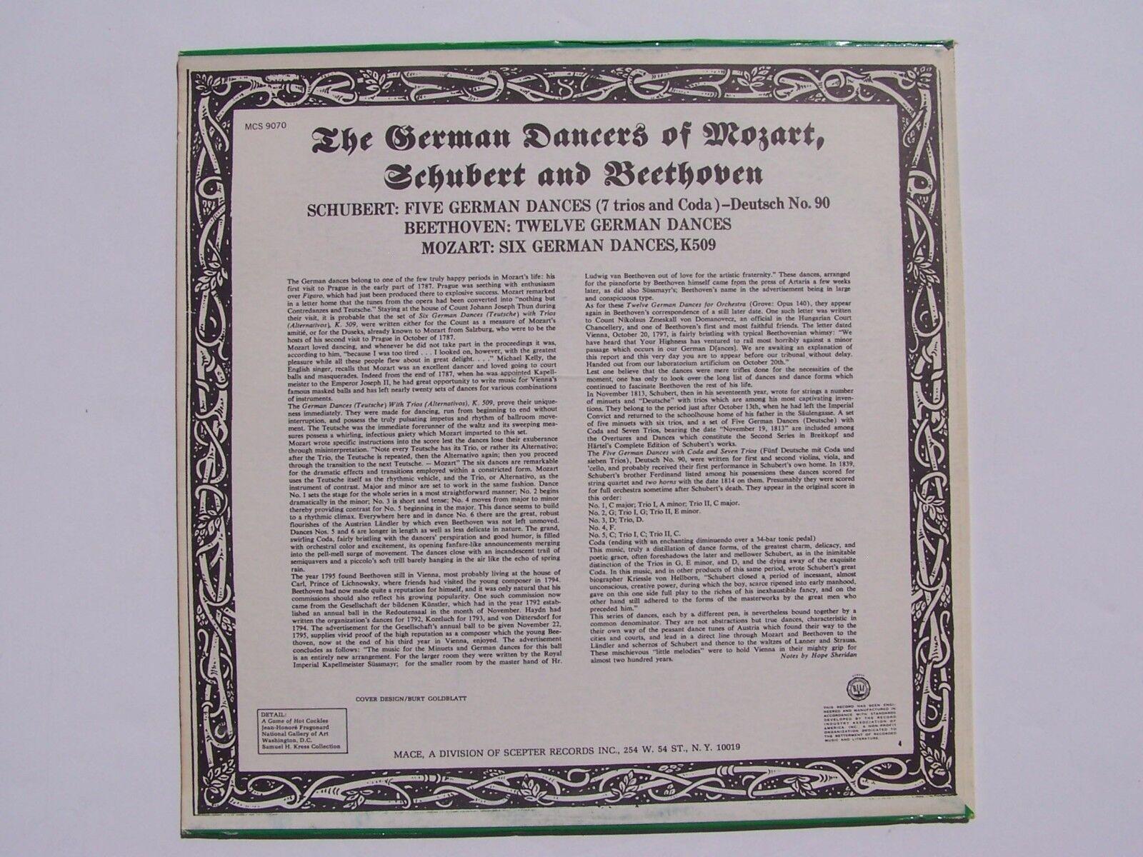 Northern Sinfonia Boris Brott German Dances Of Mozart,