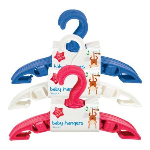 NEUF blanc! rose 10 pcs pack enfants bébé cintres-bleu