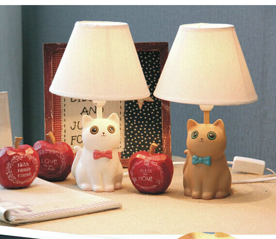 kawaii cute cat table lamp Kid room lovely desk light bedroom lighting