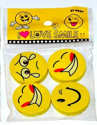 4 x Smiley Erasers