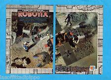 TOP986-PUBBLICITA'/ADVERTISING-1986- MB TOYS- ROBOTIX (versione A) - 2 fogli