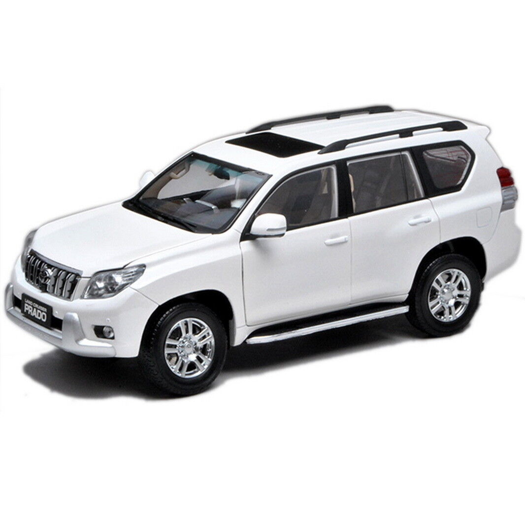 1 18 Scale Toyota Land Cruiser Prado blanc Without Decal Diecast Car Model