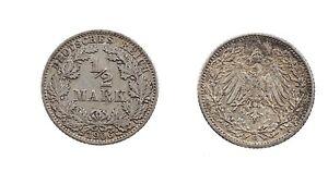 1/2 Mark 1906 G-argent-original Pièce-afficher Le Titre D'origine Zphwgflo-08001225-129017893