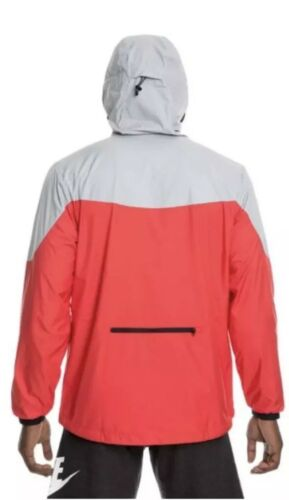 Xl 917809 para 013 Chaqueta negro Sportswear rojo hombre Windrunner Nike gris fxpvT