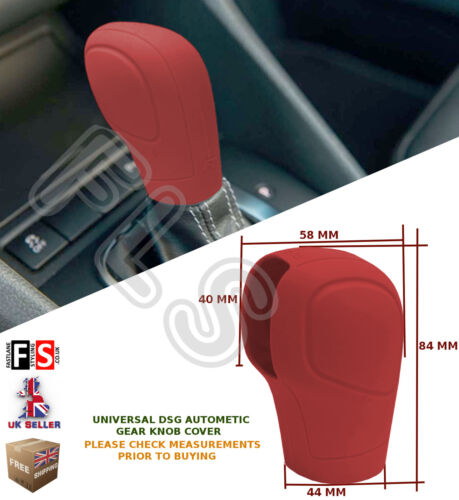 UNIVERSAL AUTOMATIC CAR DSG SHIFT GEAR KNOB COVER PROTECTOR RED–Mercedes 2
