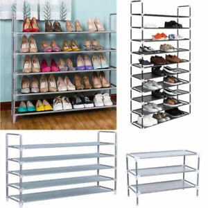 5-10-Tier-Shoe-Rack-Tower-Cabinet-Storage-Organizer-Holder-Shelf-Space-Saving-US