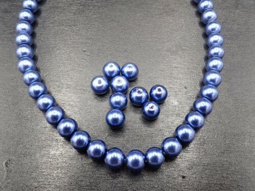 8x7mm Cristal Perla alrededor de azul oscuro imitación perla 1-100 trozo sb 546