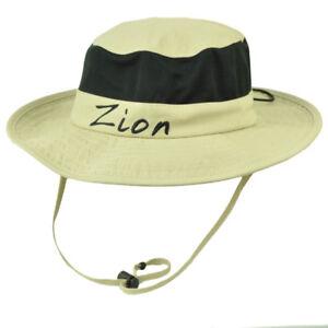 99b210a8efdbdb Zion National Park Utah Booney Sun Bucket Hat Chin Strap Mesh Band ...