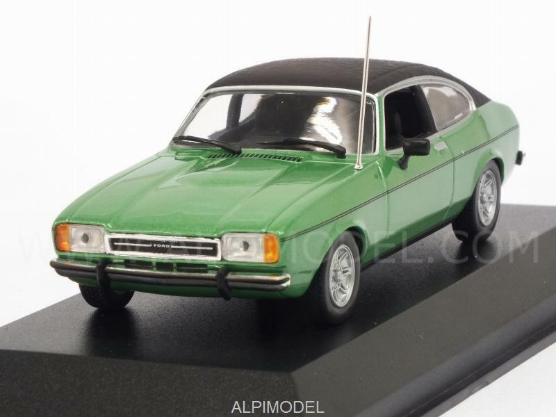 Ford Capri Mk2 1974 Grön metall Maxichamps Editio 1 43 MINISTAMPS 94008200