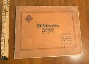 c1910 catalog SODA Bottlers Supplies H.C. Schranck Milwaukee WI LABEL SAMPLES