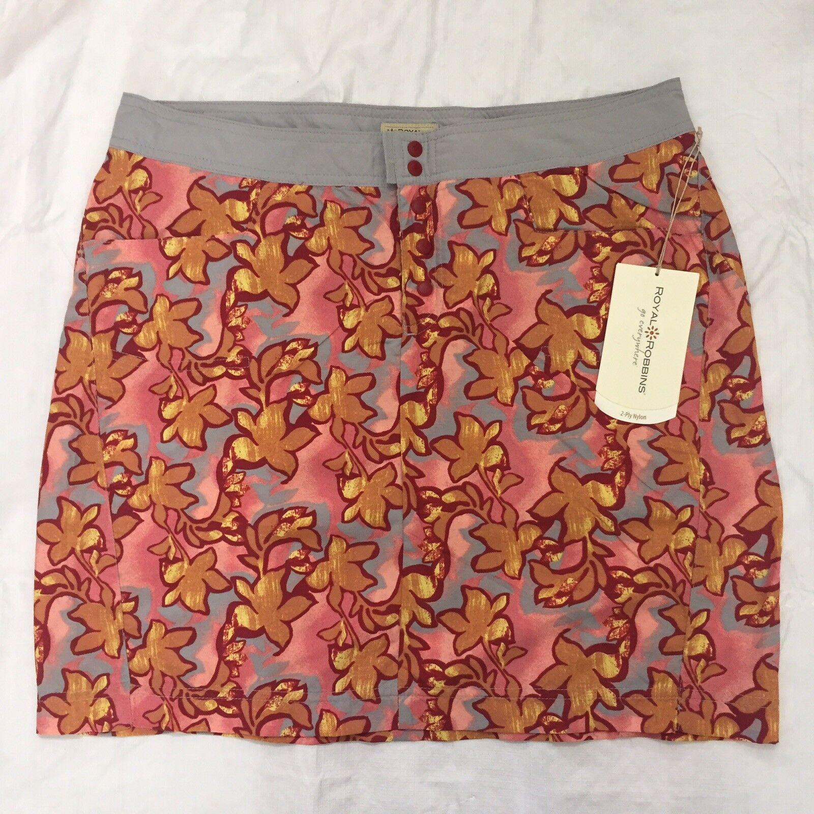 Royal Robbins Splash Around Skirt Size 12 Dark Crimson Nylon UPF 30 NWT