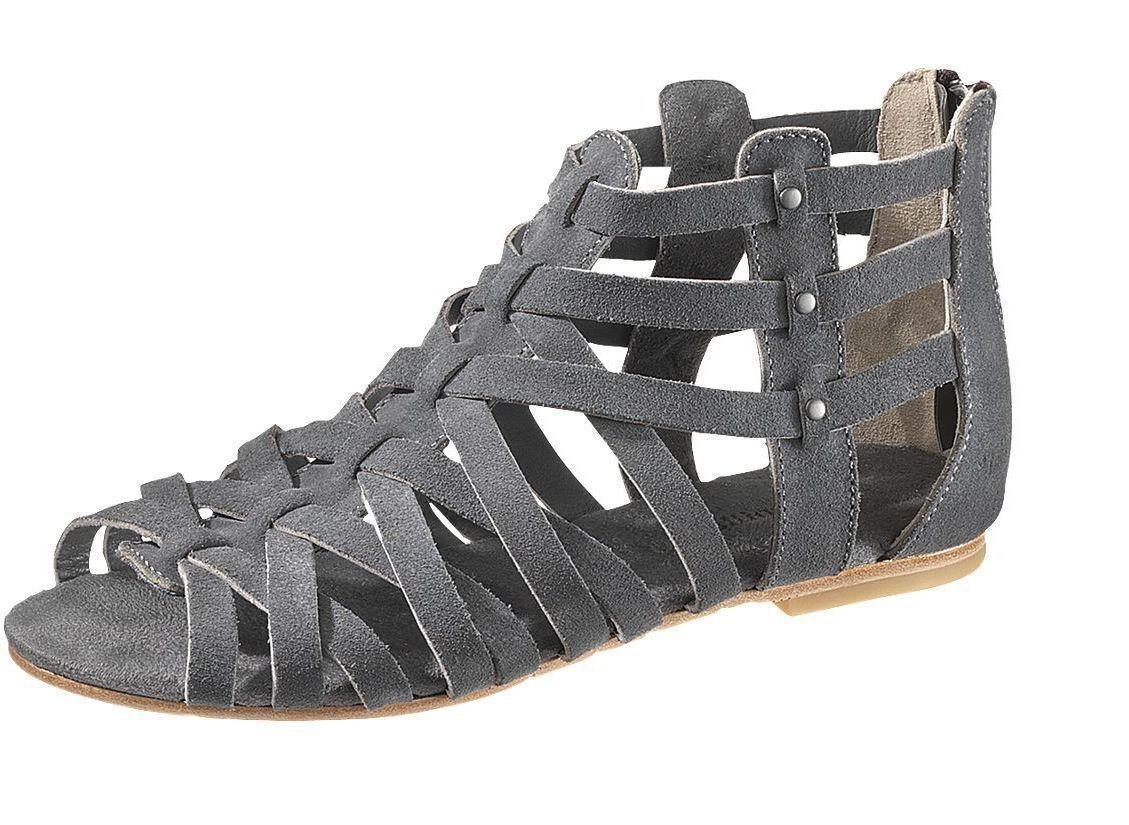 Chat p306011 femmes entrelacer GARGOUILLE   daim gris sandales fermeture éclair