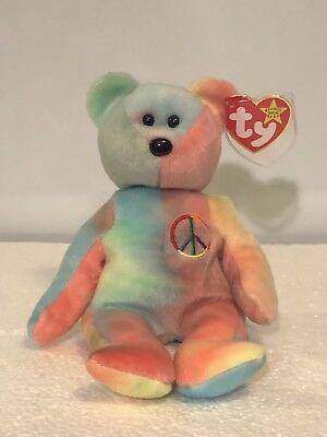 TY Beanie Babies Peace Bear Charm