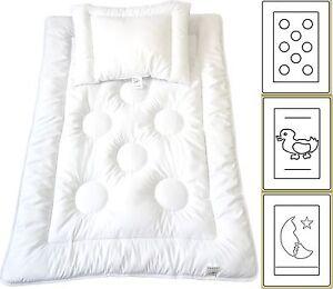 Babyset-Kinder-Bettdecke-Baby-Set-Steppbett-Kissen-Ringe-100x135cm-40x60cm