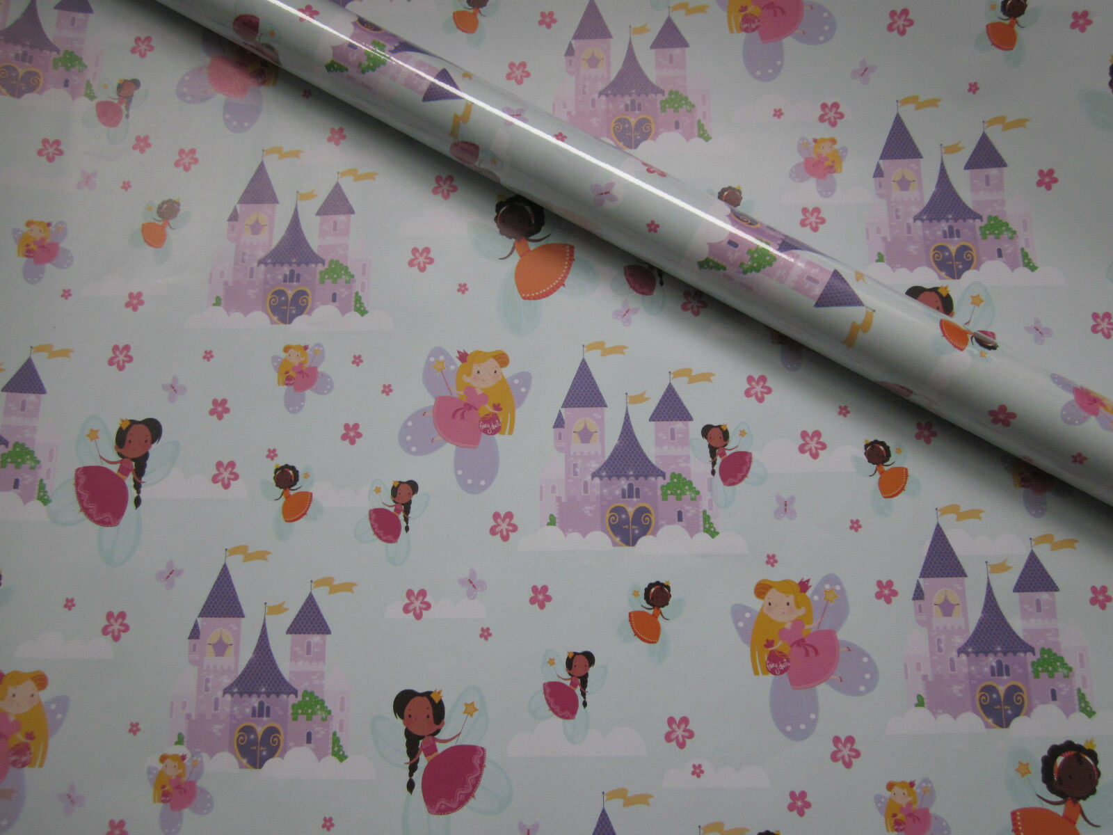 6 x Rolls Asda 2m Girls Fairy Castle Birthday Party Wrapping Paper Gift Wrap