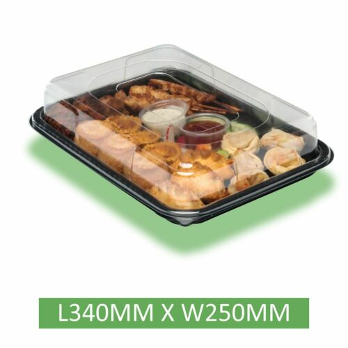 Sandwiches Parties 25 X Small Trays Platters With Lids For Catering Buffets