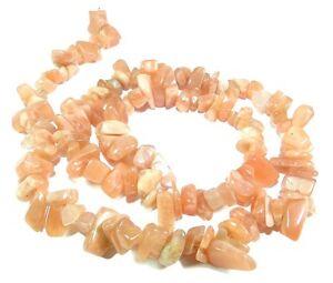 Sonnenstein-Perlen-Splitter-Nuggets-ca-5-10-mm-Edelsteinperlen-Strang