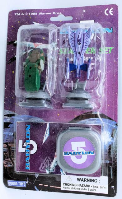 Vintage Babylon 5 Stamper Set w/ Minbari Flyer & Narn Transport MOC 1995
