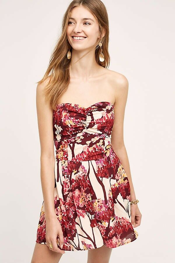 New Anthropologie Nara Romper by Paper Crown SMALL Red Motif  188
