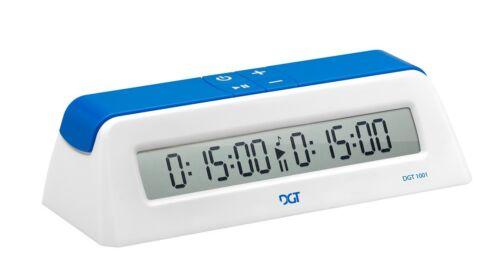 DGT 1001 Digital Chess Clock Timer White//Blue New