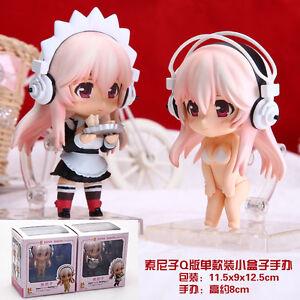 Super-Sonico-set-of-2pcs-housemaid-figures-figure-PVC-doll-Figurine-states-new
