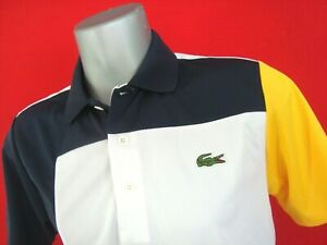 27962721bf Details about Lacoste SPORT Navy/White Men's Tech Pique Knit Polo Shirt NWT  Size s