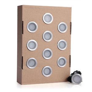10x wasserdicht 2835smd 10 led einbaustrahler 6w lampe licht 12v 3000k warmwei ebay. Black Bedroom Furniture Sets. Home Design Ideas