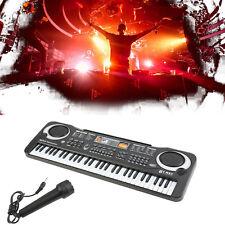 NEW 61 Key Music Electronic Keyboard Electric Digital Piano Organ w/Microphone!