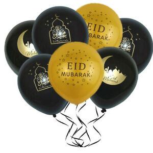 10x-Balloon-Gold-Letter-EID-Balloons-Ramadan-Decoration-Muslim-Party-Supplies