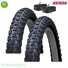 01022007k 2 x Kenda k-50 Copertone Bicicletta Cappotto 20 x 1.75 47-406 + 2 tubi flessibili