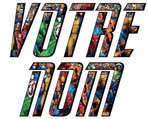 STICKER / AUTOCOLLANT DC COMICS PERSONNALISE PRENOM OU TRANSFERT TSHIRT