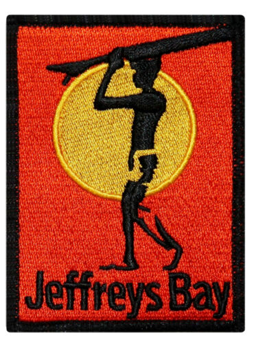 Jeffreys Bay Surfboard Patch Beach Bum Wave Rider Embroidered Iron On Applique