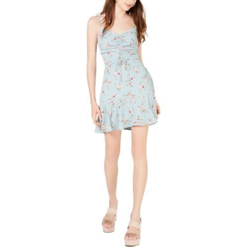 Trixxi Womens Blue Floral Sleeveless Daytime Mini Dress Juniors XXL BHFO 0501