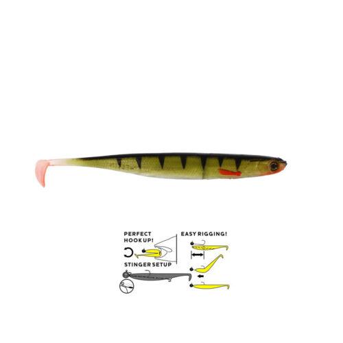 Westin Pêcher Caoutchouc Poissons en caoutchouc leurre-Kick TEEZ ST 9 cm 6st Protection par Répartition truite