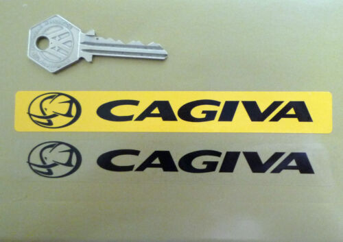CAGIVA Number Plate Dealer Logo Cover STICKER Yellow Motorcycle Bike WSB Ducati