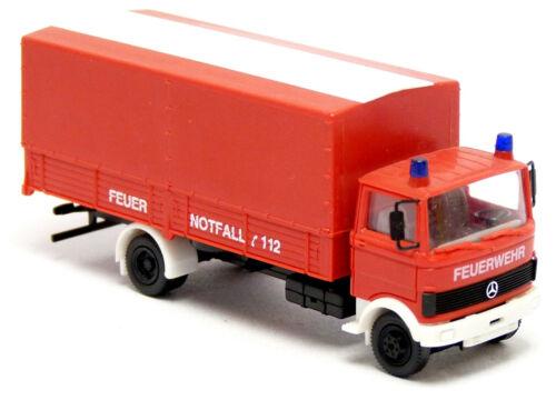 Herpa 814302 MB mercedes LP 809 bomberos rojo neutro dispositivos auto GW 1:87 h0