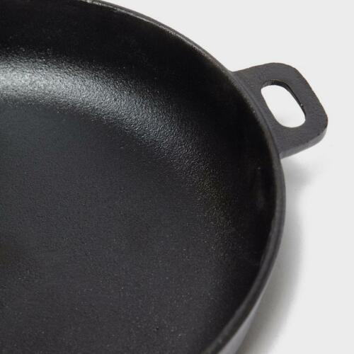 Improved Design ROBENS TAHOE PAN 27cm Cast Iron Pan for Bushcraft or Camping