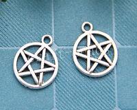 20pcs Tibetan Silver Pagan Wicca Gothic pentagram Charms Pendant DIY 20x16mm