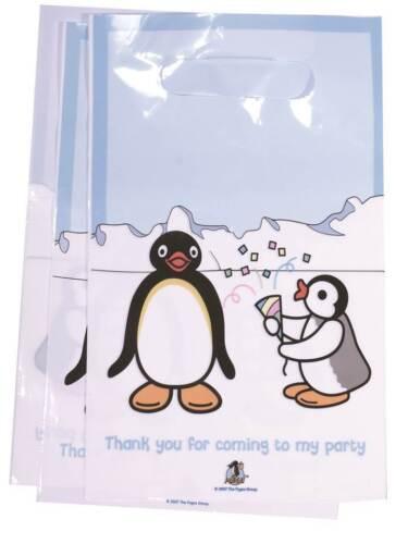 PK 10 Bolsas de Fiesta Pingüino Pingu Niños o Niñas Cumpleaños Bautizo Regalo Bolsa Botín