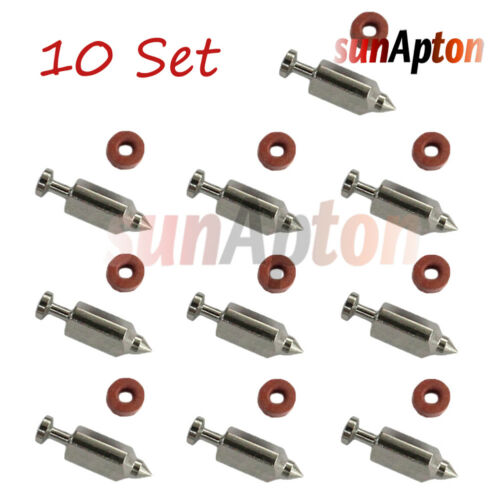 10x Carburetor Needle// Float Valve For Briggs /& Stratton 231855 /& 231855S 286707