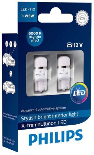 Philips Ultinon Vision WHITE Xenon Led Bulbs W5W 6000K 127996000KX2
