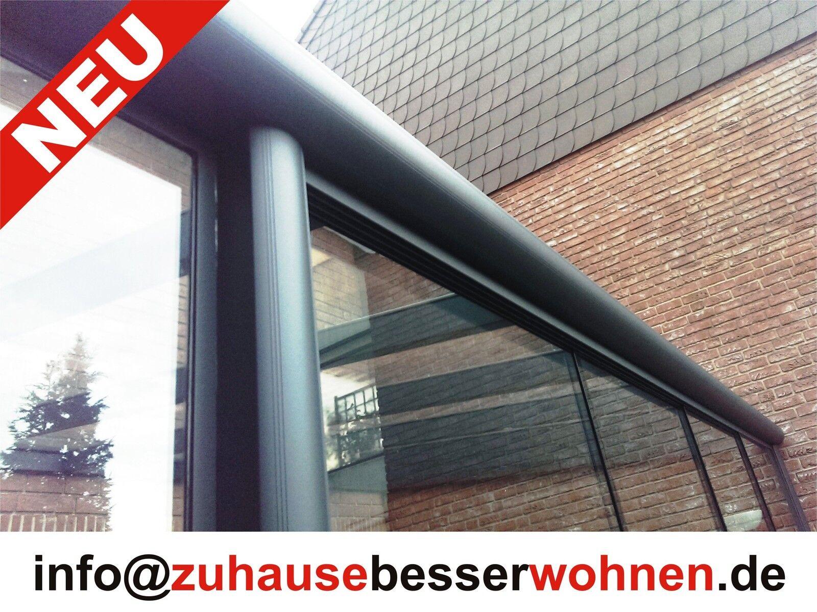 Terrassenüberdachung Alu Terrassendach vorbereitet für VSG Glas- ohne Glas 5x2,5