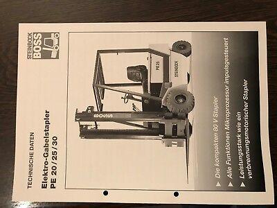 Datenblatt / Prospekt Steinbock Boss Pe20-30 Gabelstapler Stapler Forklift