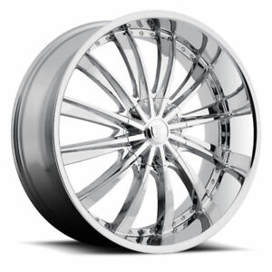 22 Inch Rim And Tire Package >> Details About 22 Inch Borghini B15 Chrome Wheels Tires Package Set Of 4