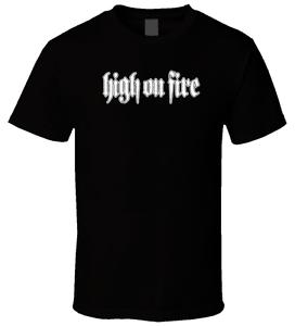 High On Fire 5 Black T Shirt