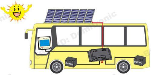 Duo Batterie Panneau Solaire Charge Controller 20 A 10 A régulateur 12V//24V remote meter